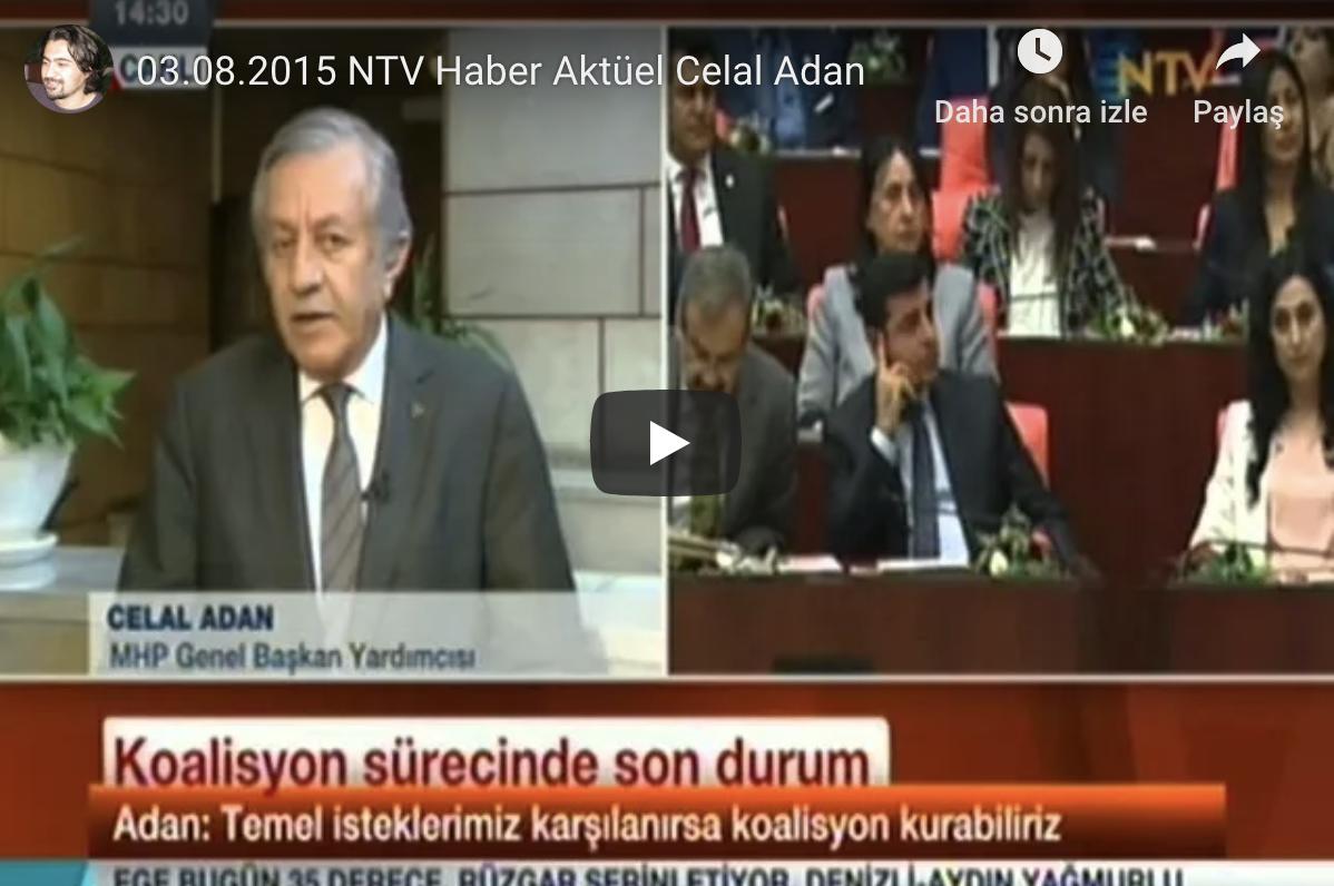 16.6.2015 CELAL ADAN HaberTürk Tv TEKE TEK Programı