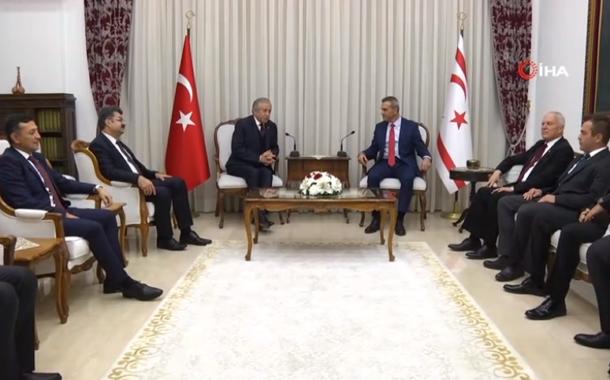 TBMM Başkanvekili Celal Adan, KKTC Meclis Başkanı Teberrüken Uluçay ile bir araya geldi.