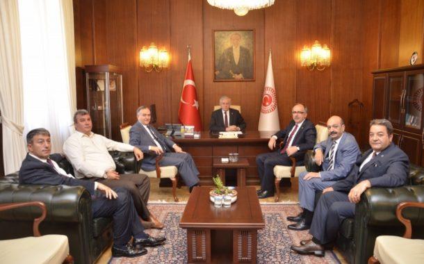 Grup Başkanvekilimiz Sayın Erkan AKÇAY ve Milletvekilimizin makamımızı ziyaretleri