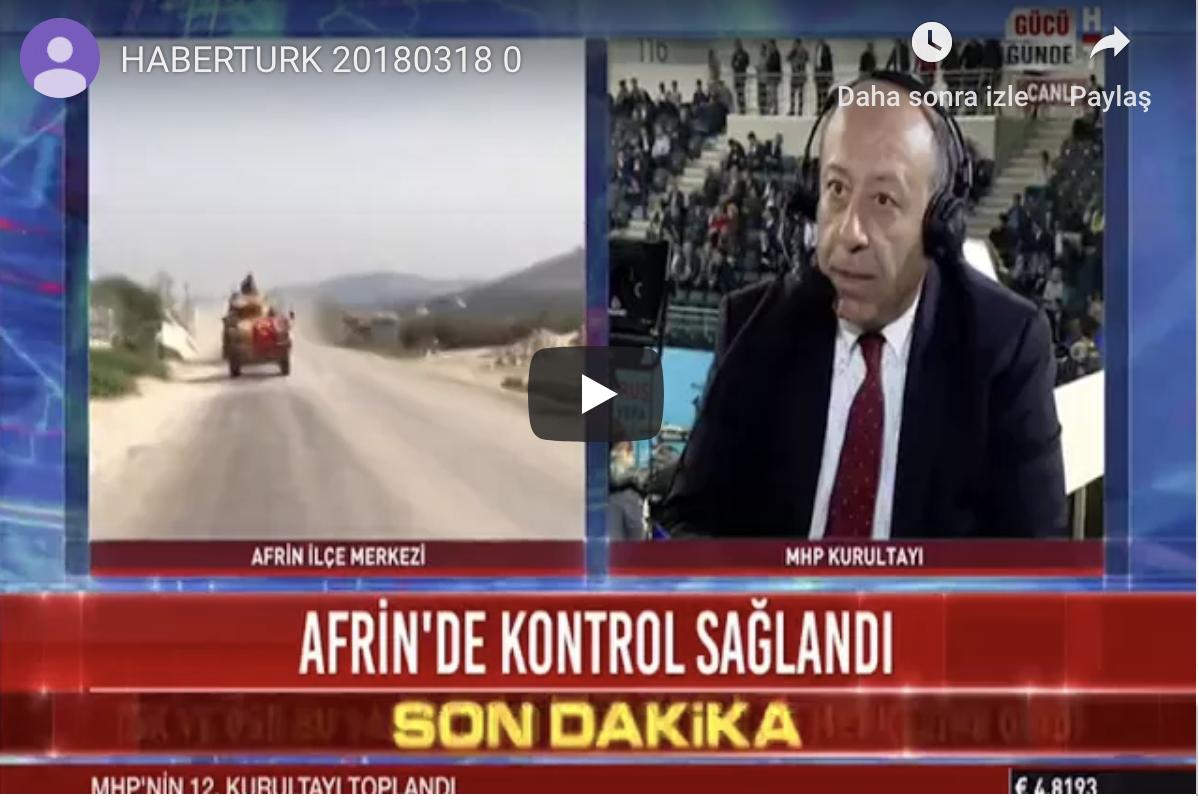 HABERTURK CELAL ADAN CANLI YAYIN KONUĞU 18.3.2018